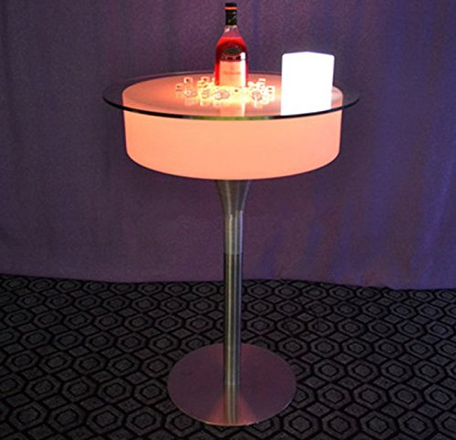 Gowe télécommande moderne Plastique Bar Pub Cocktail Café Table de bar avec éclairage LED batterie coloré LED Table basse lumineuse