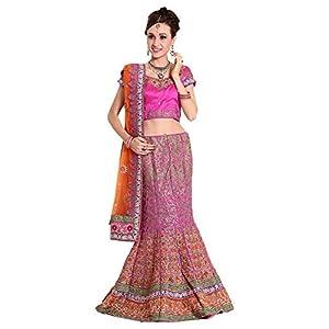 Divasa Women's Net Lehenga Choli SLG9RO_ Pink