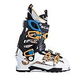 Scarpa Men's Maestrale RS Ski Boots / White/Orange / Mondo Point 25.5