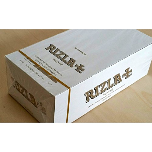 Rizla Papers Regular Size White weiß - 50 Booklets (Paper Size Regular)