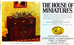 Dollhouse Furniture- Hutch Cabinet Circa 1750-1790 #40003 Assembled (The House of Miniatures)