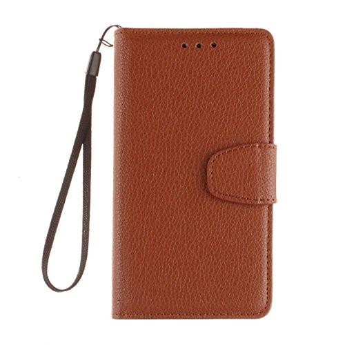 PU Leder Orange Schutzhülle für LG G3 case Wallet Schale Tasche Magnet Silikon Back Cover Etui Skin Shell Purse Handyhülle Standfunktion Kredit Kartenfächer Folio Bookstyle mit Weich TPU Innere
