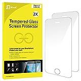 JETech Prime 2-Pack iPhone SE 5S 5C 5 Film Protection en Verre trempé écran protecteur ultra résistant pour iPhone 5/5S/5C/SE