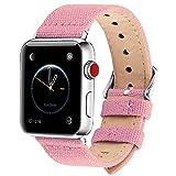 Fullmosa Compatible avec Bracelet Apple Watch 42mm 44mm en Tissu, 8 Couleurs Canvas...