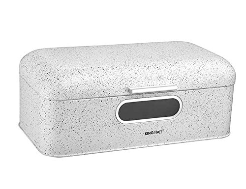 Brotkasten aus Metall, 42 x 23 x 16,5 cm, Weiß Brotbox