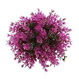 Fenteer Künstliche Blumenkugel Farben, Blumenart und Größe Zum Auswahlen - Lila Eukalyptus, 19cm