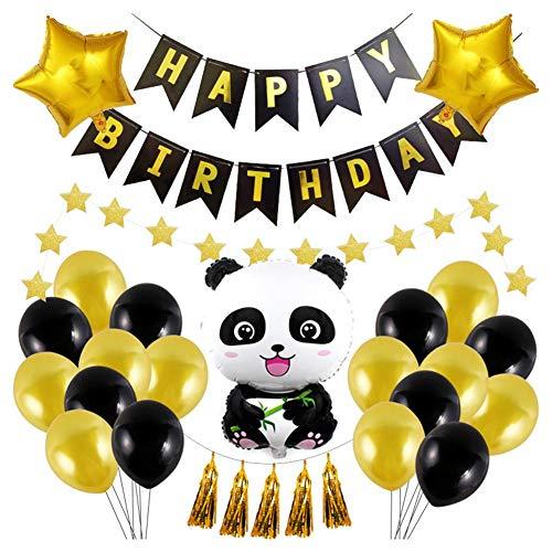 cypressen Folienballon Happy Birthday - Niedlicher Cartoonpanda, Der Anredet Geburtstagsfeier Thema Fischschwanz Ammer Dekoration
