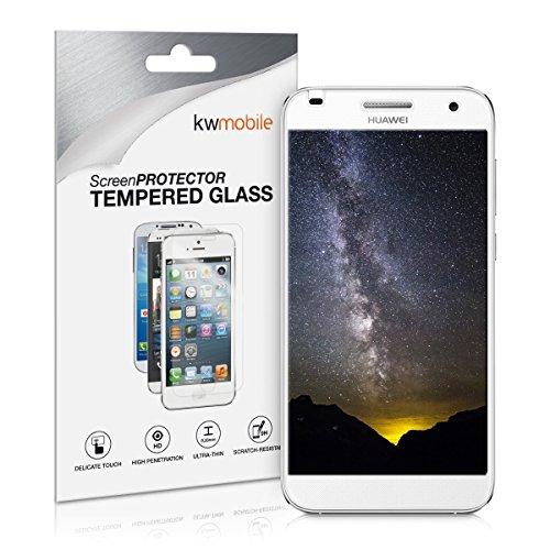 kwmobile Huawei Ascend G7 Folie - Glas Handy Schutzfolie für Huawei Ascend G7 - Full Screen Bildschirm Schutz