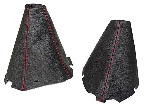 pour-nissan-pathfinder-2006-2012-frein-a-main-gear-guetre-en-cuir-noir-coutures-rouge