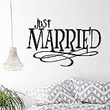 Extraíble recién casado diseño creativo etiqueta de la pared Pvc cotizaciones a prueba de agua sala de estar dormitorio casado amante arte de la pared decoración para el hogar 66x43cm