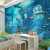 Rureng 3D Geprägte Sea World Fisch Fototapeten Wandbilder Tapeten Für Kinder Schlafzimmer Wohnzimmer Wand Kunst Dekor Minion Tapete-400X280Cm