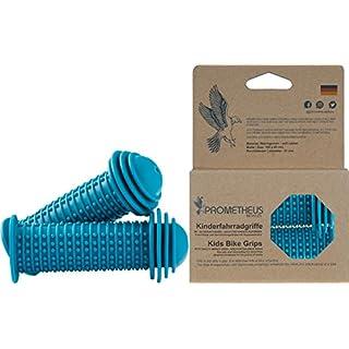 Prometheus Kinderfahrradgriffe in Blau mit Sicherheits - Prallschutz auch für Laufrad Roller - 22 mm Lenkergriffe Edition 2019