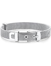 Rafaela Donata Damen-Armband Armband - Gürtel Länge flexibel verstellbar 14.5 bis 19cm Edelstahl