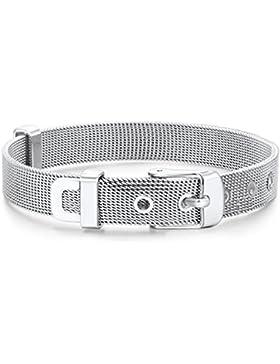Rafaela Donata Damen-Armband Armband - Gürtel Länge flexibel verstellbar 14.5 bis 19cm Edelstahl - 60917061