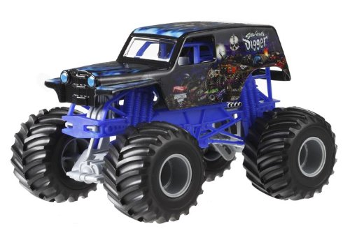 Hot Wheels Monster Jam Son Uva Digger Die-Cast Vehicle, 1:24 Scale by Hot Wheels