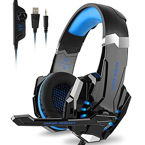 6b2e2092afd5 vapeonly Kotion Ogni G9000 Gaming Cuffie 3.5 mm Jack Stereo con Microfono  LED Luce per Xbox