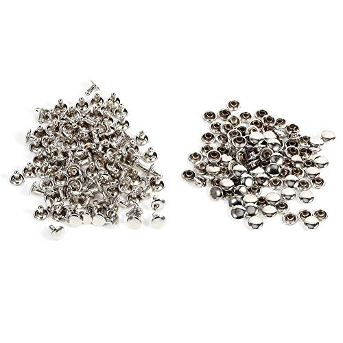 100 Paar 8x8mm Leder Nieten, Double Cap Stud Spikes Nieten für die handwerkliche Dekoration