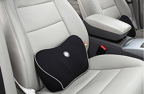 Ergonomische Spine Care Memory Foam Lendenkissen Fahrzeug Zurück Unterstützung für Home Office oder Auto-Sitzkissen Rückenkissen (Schwarz)