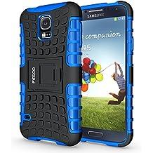 Funda Galaxy S5 ,Pegoo El Soporte Incorporado A Prueba de golpes Anti-Arañazos y Polvo Mezcla Doble Capa Armadura Proteccion Cover Case Caso Funda Cáscara Caja para Samsung Galaxy S5 (Azul)