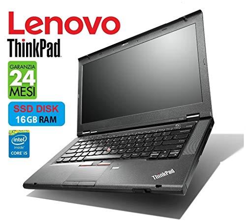 Lenovo ThinkPad TSeries 14in Intel i5 2.6GHz / 3.50Ghz - DISCO SSD - 16 GB - Garanzia 24 Mesi (Notebook Ricondizionato Netmotive)