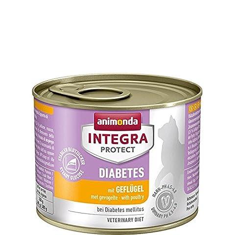 Animonda Integra Protect Diabetes Katzenfutter mit Geflügel, 6er Pack (6 x 200 g)