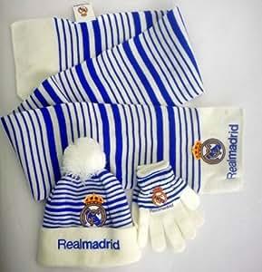 Bonnet, écharpe et Gants officielle club de foot Real Madrid – Marchandise certifiée Real Madrid
