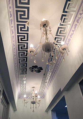 Spiegel Aufkleber DIY Home Art Dekoration Wohnzimmer Schlafzimmer Decke Selbstklebende abnehmbare Acryl , black (Schmetterling Und Blume Hängende Decken Dekoration)