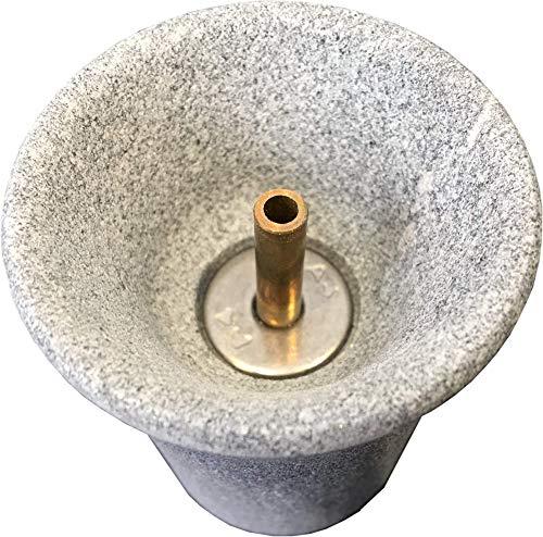 Weigand Saunabrunnen L I Der schöne Springbrunnen aus Speckstein I Einfach zwischen die Saunasteine stellen I Saunazubehör I Springbrunnen I Geschenk