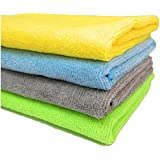 SOBBY Microfibre Cleaning Cloth  - 40 cm x 40 cm ( Pack of 4 )