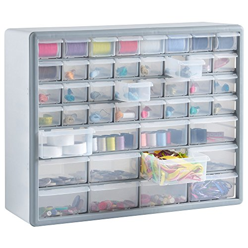vonhaus-44-multi-drawer-storage-cabinet-organiser-white-grey