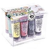 Kit de Tubes de Peinture Acrylique Craftamo 12 x 27ml. Kit de Peinture Acrylique Pour Utilisation Sur Toile, Comme Peinture de Tissu, Peinture de Modèles, Peinture de Verre, ou Peinture à l'Argile
