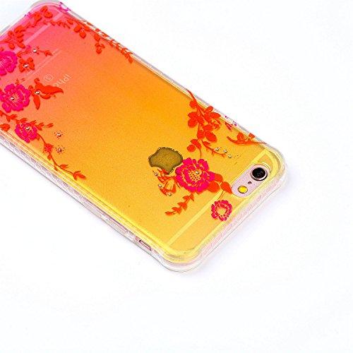 ZeWoo TPU Coque - - pour Apple iPhone 6 Plus (5,5 pouces) Silicone Étui Housse Protecteur--YT01 papillon coloré YT05