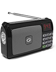 Amkette Pocket FM Portable Multimedia Speaker with USB SD C