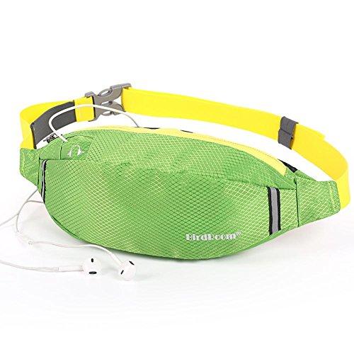 Multifunktions Outdoor Sport Taille Tasche, Männer und Frauen Outdoor Sport, Laufen, Radfahren, Wandern, Reisen, Fitness Taille Tasche / Handy Sicherheit Taille Tasche green