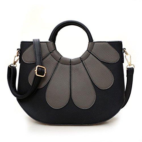 Damen Handtasche Umhängetasche,DarkGreen Gray