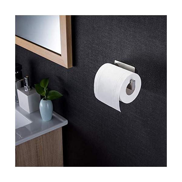 ZUNTO-Porta-Carta-Igienica-Acciaio-Inox-304-Portarotolo-Carta-Igienica-Senza-Foratura-per-Bagno-e-Toilette