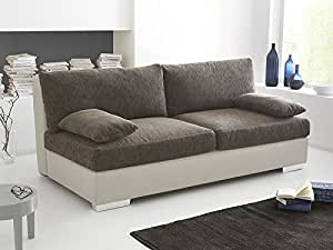boxspring schlafsofa somerset braun beige 202x106cm dauerschl fer sofa schlafcouch schlafliege. Black Bedroom Furniture Sets. Home Design Ideas