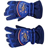 Generic Pair Anti-slip Winter Warm Breathable 8-10 Years Children Kids Ski Skating Gloves Dark Blue