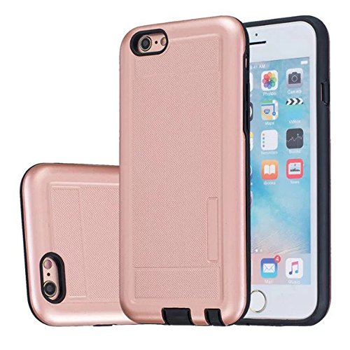 iPhone Case Cover 2 in 1 neue Rüstung Solid Color Dot Muster mattiert Stil Hybrid Dual Layer Rüstung Defender PC Hard zurück Fall Deckung Shockproof Fall Für Apple IPhone 5S SE ( Color : Gray , Size : Rose Gold