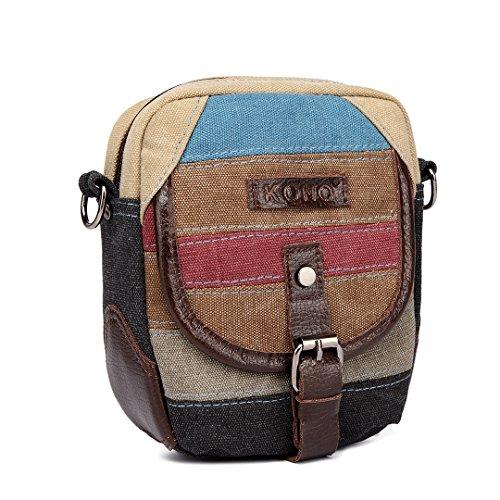Kono Schultertasche Handtasche Shopper Damen Tasche Umhängetasche aus Canvas E1712