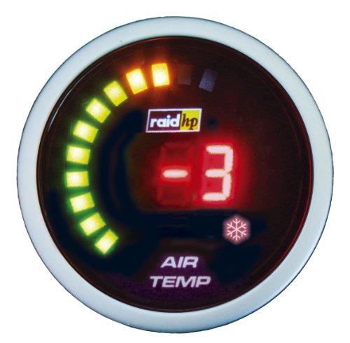 Raid HP 660543 Zusatzinstrument Außenthermometer Temperaturanzeige Serie Night Flight Digital Red