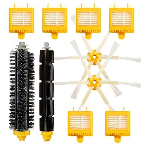 RanDal 10Pcs Ersatz Vakuum Part For Irobot Roomba 700 Series 760 770 780 790 Filters Brush Pack Kit -