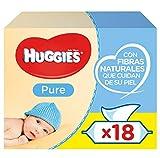 foto Huggies Pure Toallitas para Bebé - 18 paquetes de 56 unidades (1008 Toallitas)
