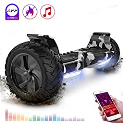 Idea Regalo - RCB Hoverboard Scooter elettrico fuoristrada Scooter 8.5'' Hummer LED APP Bluetooth integrato con motore potente 2 * 350W