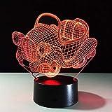 LIUJINHAI 7 Colori Retro Altalena Auto 3D Luce di Notte Bordo Acrilico RGB Cambia Lampada da Tavolo a LED Lampada da Tavolo slideshow 3D per Il Regalo del Ragazzo