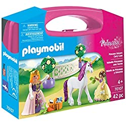 Playmobil- Maletín Grande Princesas y Unicornio Juguete, (geobra Brandstätter 70107)