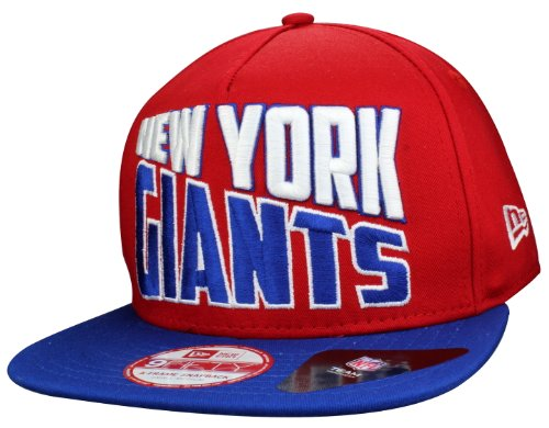 New York Giants A Frame Casquette Snapback Cap Wordsplit de New Era | Taille: S/M