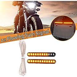 FEZZ LED Blinker Motorrad, Bernstein, 2 Packung