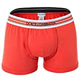 Dolce&Gabbana Herren Boxer Shorts, Regular Boxer, S-XL, Unifarben, Logobund: Farbe: Orange/Rot | Größe: M (Gr. Medium)