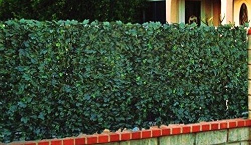 Haie artificielle Feuillages DUO coloris vert foncé+vert tendre, 1,50m x 3m -PEGANE-